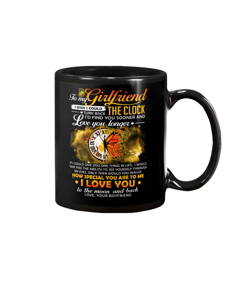 Butterfly Girlfriend Clock Ability Moon Mug