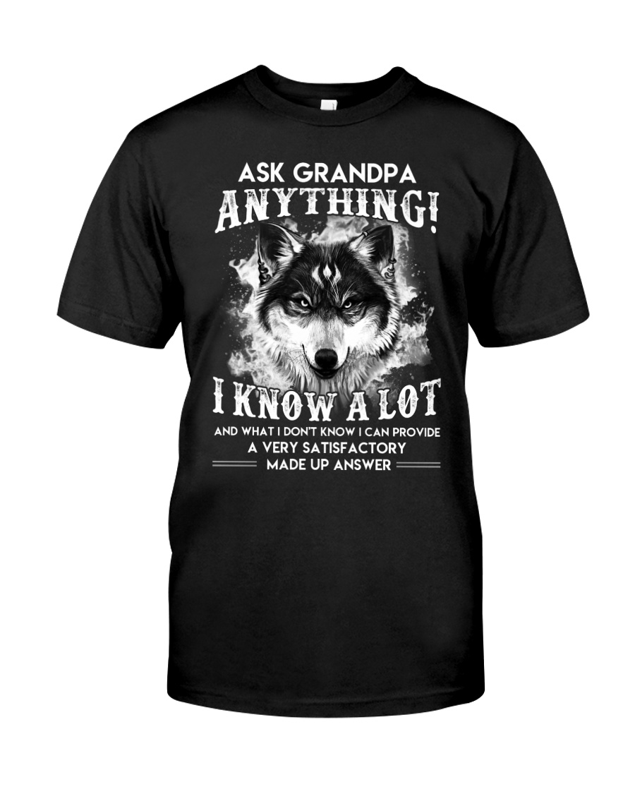 Ask Granpa Anything Wolf Classic T-Shirt
