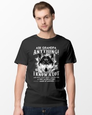 Ask Granpa Anything Wolf Classic T-Shirt lifestyle-mens-crewneck-front-15