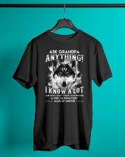 Ask Granpa Anything Wolf Classic T-Shirt lifestyle-mens-crewneck-front-3