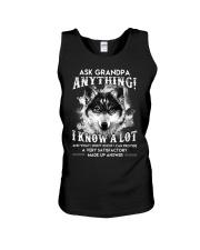 Ask Granpa Anything Wolf Unisex Tank thumbnail