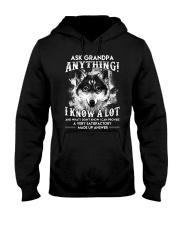 Ask Granpa Anything Wolf Hooded Sweatshirt thumbnail