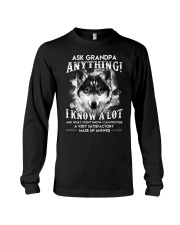 Ask Granpa Anything Wolf Long Sleeve Tee tile