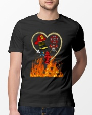 Firefighter Heart Shirtr Classic T-Shirt lifestyle-mens-crewneck-front-13