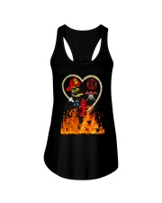 Firefighter Heart Shirtr Ladies Flowy Tank tile
