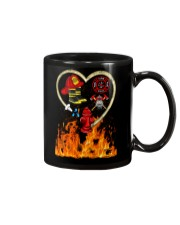 Firefighter Heart Shirtr Mug tile