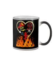 Firefighter Heart Shirtr Color Changing Mug tile