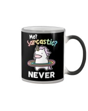 Unicorn Sarcastic T-shirt Color Changing Mug thumbnail