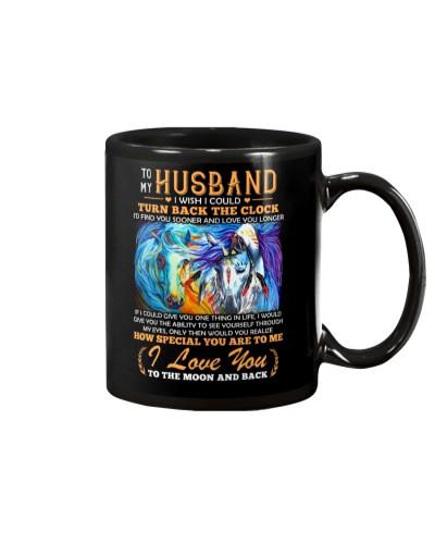 Horse Husband Clock Ability Moon