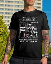 Our Flag Firefighter Protecting It  Classic T-Shirt lifestyle-mens-crewneck-front-8