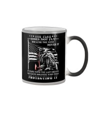 Our Flag Firefighter Protecting It  Color Changing Mug thumbnail