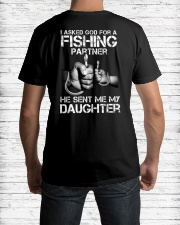 Fishing My daughter  Classic T-Shirt lifestyle-mens-crewneck-back-1