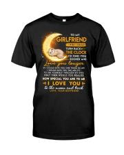 Sloth Girlfriend Clock Ability Moon Classic T-Shirt thumbnail