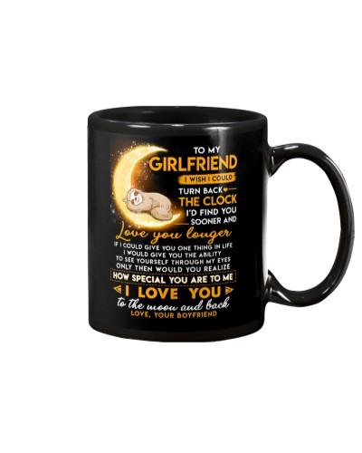 Sloth Girlfriend Clock Ability Moon