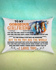 Horse Girlfriend To Me You Are The World Rectangular Pillowcase aos-pillow-rectangle-front-lifestyle-3