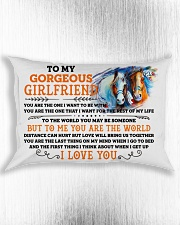 Horse Girlfriend To Me You Are The World Rectangular Pillowcase aos-pillow-rectangle-front-lifestyle-4