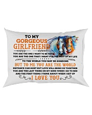 Horse Girlfriend To Me You Are The World Rectangular Pillowcase back
