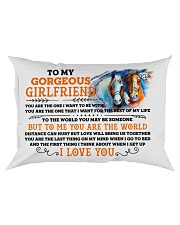 Horse Girlfriend To Me You Are The World Rectangular Pillowcase front