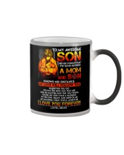 Firefighter The Bond Between Son Mom  Color Changing Mug thumbnail