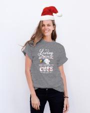 Elephant Loving Auntie Cuss  Classic T-Shirt lifestyle-holiday-crewneck-front-1