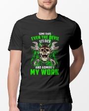 Devil Admires Mechanic's Work Classic T-Shirt lifestyle-mens-crewneck-front-13