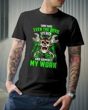 Devil Admires Mechanic's Work Classic T-Shirt lifestyle-mens-crewneck-front-6