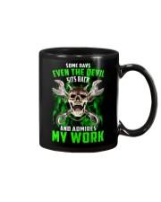 Devil Admires Mechanic's Work Mug thumbnail