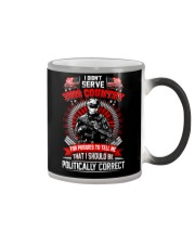 Veteran shirt: I didn't serve this country Color Changing Mug thumbnail