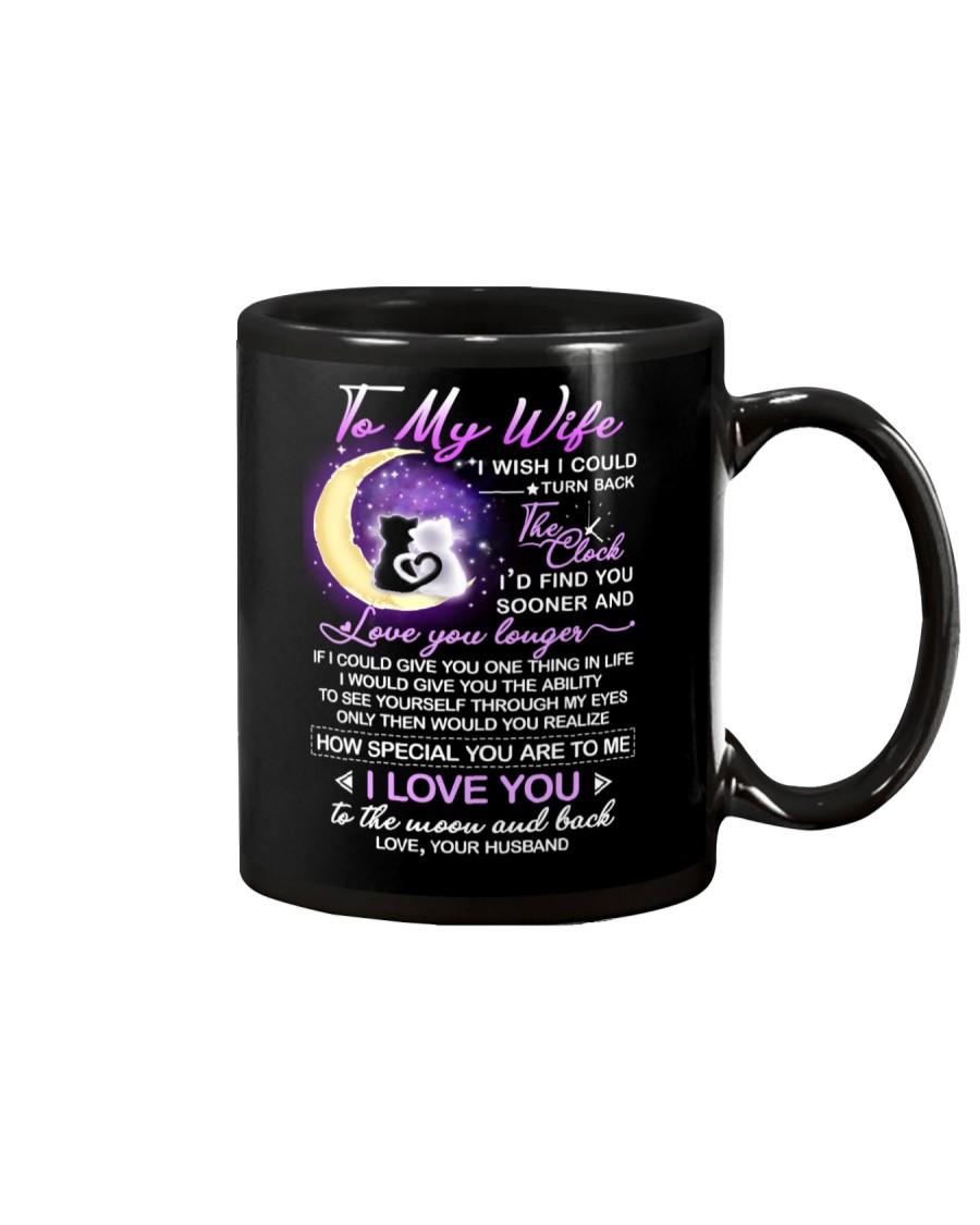 Cat Wife Clock Ability Moon Mug