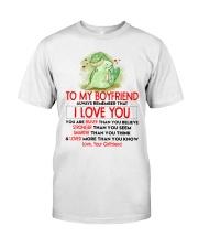 Dinosaur Boyfriend I Love You Classic T-Shirt thumbnail