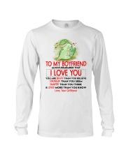 Dinosaur Boyfriend I Love You Long Sleeve Tee thumbnail