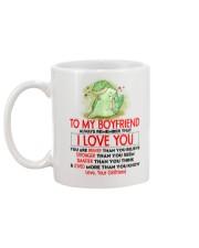 Dinosaur Boyfriend I Love You Mug back