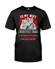 Wolf Turn Back Hand Of Time Wife  Classic T-Shirt thumbnail