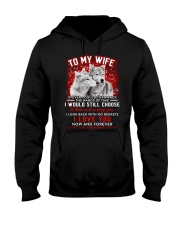 Wolf Turn Back Hand Of Time Wife  Hooded Sweatshirt thumbnail