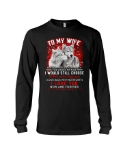 Wolf Turn Back Hand Of Time Wife  Long Sleeve Tee thumbnail