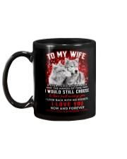 Wolf Turn Back Hand Of Time Wife  Mug back