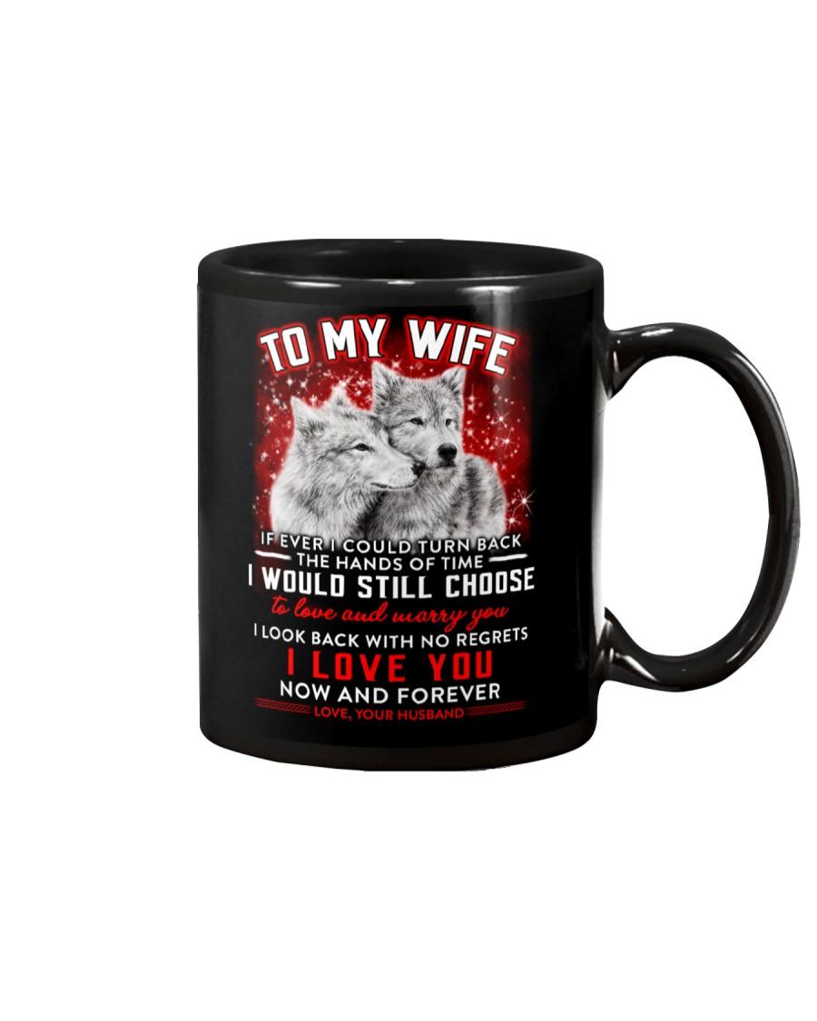 Wolf Turn Back Hand Of Time Wife  Mug