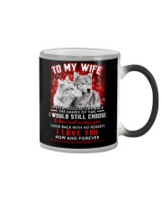 Wolf Turn Back Hand Of Time Wife  Color Changing Mug thumbnail