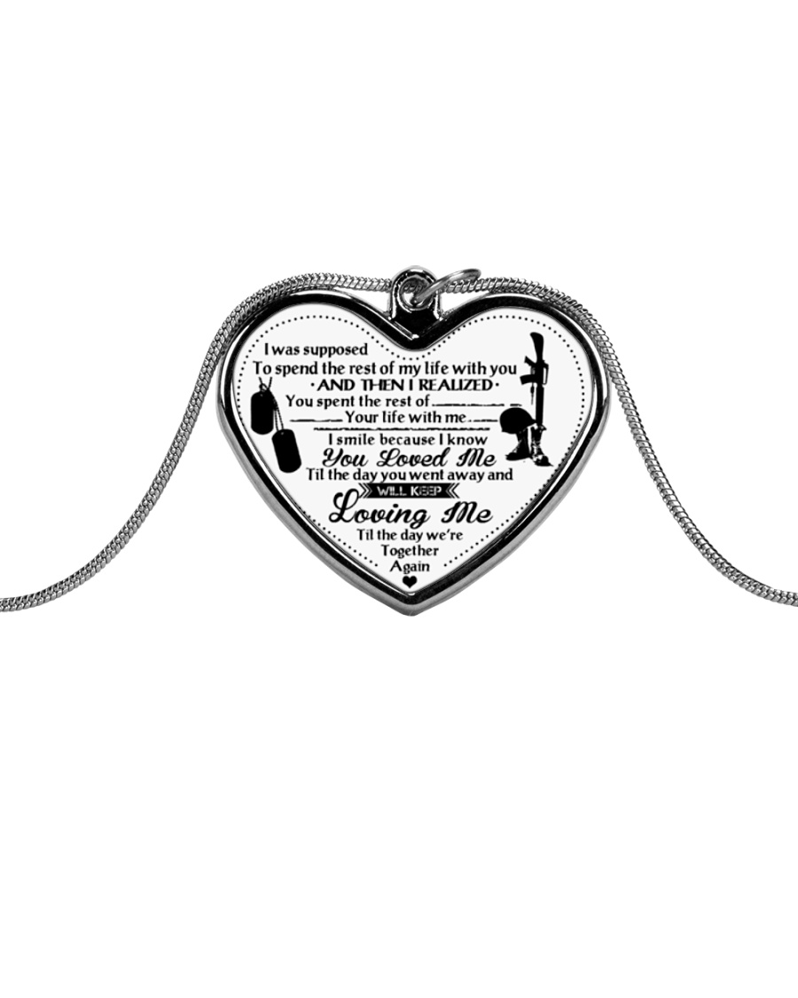Veteran We're together again Metallic Heart Necklace