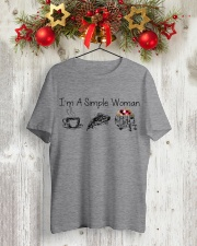 Camping I'm a simple woman shirt Classic T-Shirt lifestyle-holiday-crewneck-front-2