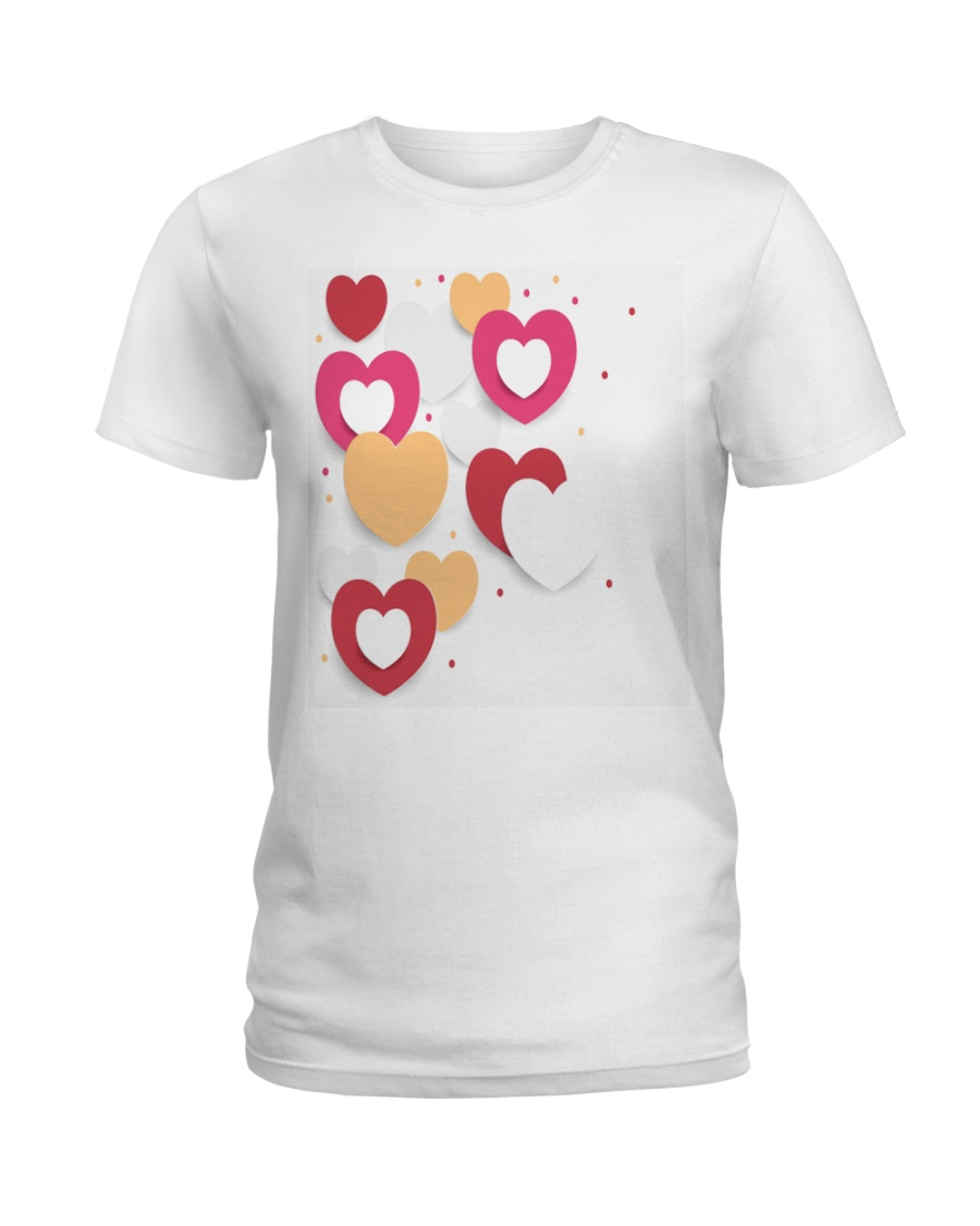 hearts Ladies T-Shirt