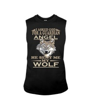 I Aske God For A Guardian Angel He Sent Me My Wolf Sleeveless Tee thumbnail