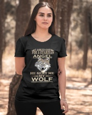 I Aske God For A Guardian Angel He Sent Me My Wolf Ladies T-Shirt apparel-ladies-t-shirt-lifestyle-05