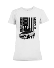 FOR AMERICAN CAR LOVERS Premium Fit Ladies Tee thumbnail