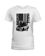 FOR AMERICAN CAR LOVERS Ladies T-Shirt thumbnail