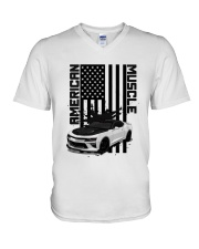 FOR AMERICAN CAR LOVERS V-Neck T-Shirt thumbnail
