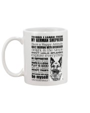 Thing i learn from German Shepherd  Mug back