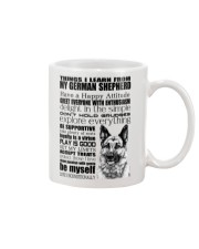 Thing i learn from German Shepherd  Mug front