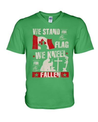 WE STAND FOR THE FLAG WE KNEEL FOR THE FALLEN