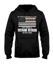 My Time In Uniform Is Over But Being A Vietnam Vet Hooded Sweatshirt thumbnail